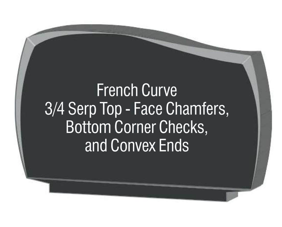 French Curve Corner Checks Chamber Convex Ends
